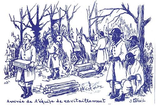 Illustrations- Ravitaillement dans les Vosges  par Jean COQUIL (capitaine au B.M.5)