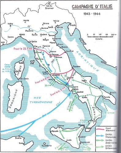 1944 -  Italie- Cartographie