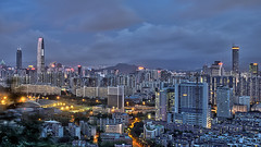 Shenzhen Skyline (View from Bijiashan) photo by arjalvaran