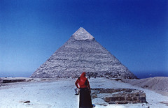 Woman at the Pyramid, Giza photo by Paper Planes from the Aerie