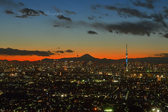 Mt.Fuji and Tokyo Sky Tree photo by yoko.wannwannmaru