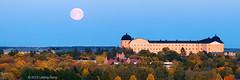 Full moon rise, Uppsala Castle (Uppsala Slott), Uppsala. Sweden. Stitched panorama. photo by Lebing Gong