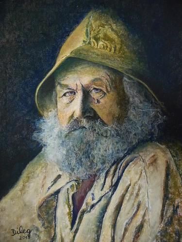 Vieux pêcheur normand (de face)