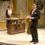 Heidi Kettenring (Ilona) and James Rank (Kodaly) in SHE LOVES ME at Writers Theatre. Photos by Michael Brosilow.
