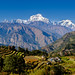 Nepal terraces and mountains