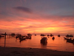sunset on koh tao, thailand