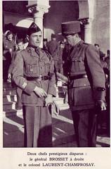 RA- Le lieutenant colonel Champrosay et le général Brosset