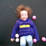 Bouncing with Dad on the trampoline<br/>29 Mar 2014