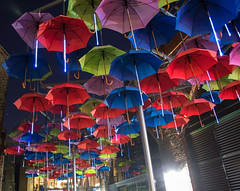 Umbrellas of Vinopolis photo by Doolallyally