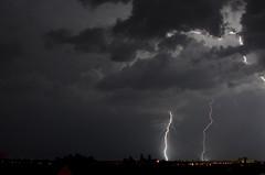 Lightning in Milwaukee photo by lilylilybug