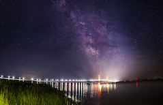 Milky Way over the Mackinac Bridge! photo by Brock Whittaker Photography