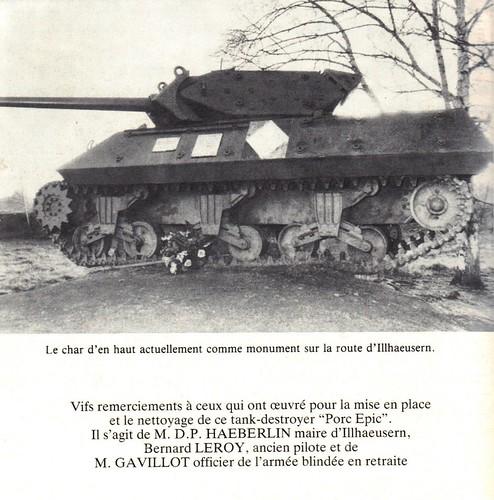 1945- Alsace- chemins de mémoire- 8e RCA - Char porc épic- source  Jeanne Heitzler