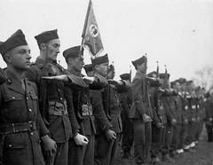Alsace- 1945- Obenheim -honneurs rendus par les anciens