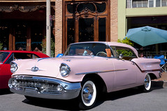1957 Oldsmobile Rocket 88 Hardtop, pink --- EXPLORED - #479, Sept 2nd, 2013 photo by Pat Durkin - Orange County, CA