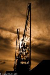 Crane Sihouette - Jersey Channel Islands photo by Jonathan Huelin