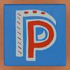 Bob and Roberta Smith Alphabet Block Letter P