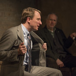 John Hoogenakker (Dermot) and Patrick Clear (Joe) in PORT AUTHORITY at Writers Theatre. Photo by Michael Brosilow.