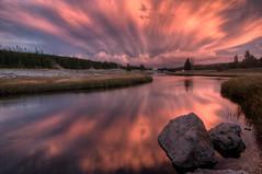 Firehole River, Yellowstone National Park Sunset HDR photo by Brandon Kopp