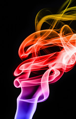 Smoke abstract on black photo by Leigh Feaviour