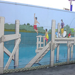 Mural on chemist shop at Beach Haven
