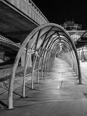 Arched walkway at Newark International airport photo by Gene Krasko Photography