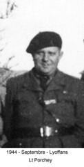 BM4- Chambarand -1944 Septembre -  Lyoffans-  Lt Porchey - Fonds Emile Gauthier