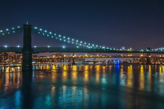 Brooklyn, Manhattan & Williamsburg Bridges in New York City photo by Bill Varney