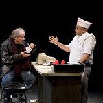 Francis Guinan (Eddie) and Joe Miñoso in DO THE HUSTLE at Writers Theatre. Photos by Michael Brosilow.