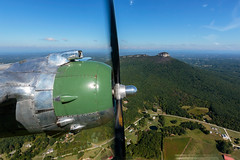B-25 Panchito over Pilot Mountain, North Carolina photo by snapdragginphoto