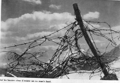 Authion- 1945 printemps -No mansland et barbeles hautes cimes