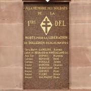 Franche Comté- Dolleren : plaque commémorative des morts pour la France du BM XI - Col. Wladislas Picuira