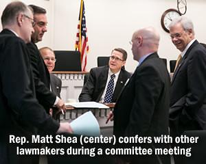 Rep. Matt Shea in conference.