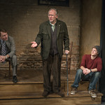 John Hoogenakker (Dermot), Patrick Clear (Joe) and Rob Fenton (Kevin) in PORT AUTHORITY at Writers Theatre. Photo by Michael Brosilow.