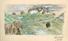 1945 Avril - Attaque du fort de la Forca - dessin de François Engelbach