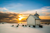 Winter at Varhaug old church