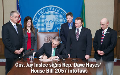 Gov. Inslee signs Rep. Hayes' House Bill 2057