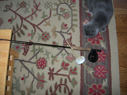 Proof that it really is all about pointy sticks and string in our house.
