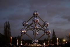 Atomium buitenaanzicht nacht