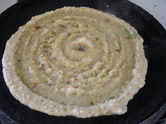 Adai cooking