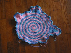 Spiral Free Form Doll Blanket