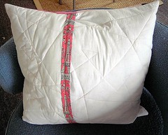Log Cabin Pillow Back
