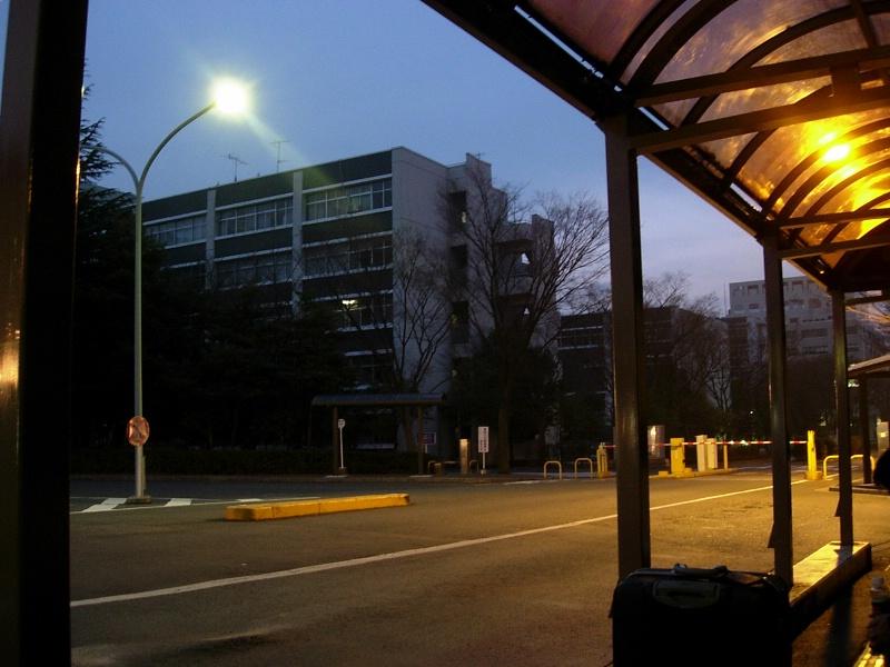 Saitama Univ Bus Stop 5 AM 2
