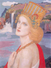 Aoife, Cuchulainn's lover and mother of his son, Conlai