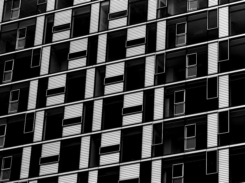 Window Pattern on Condos - Portland OR