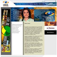 Silvia Corzo en la web del Canal Caracol