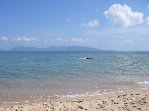 Utsikt från Mae nam mot Ko Phangan