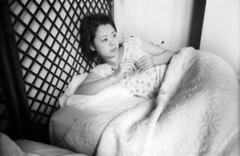 mugi in bed