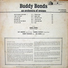 Buddy Bonds - An Orchestra of Organs (back)