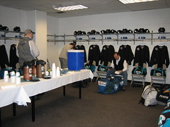The locker room in the morning