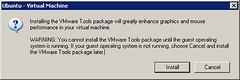 看了一下说明,原来vmware tools能够极大的增加 虚拟机中的图形和鼠标性能,并且只能在虚拟机系统运行时安装